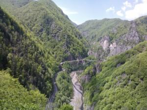 Privelistea de la nordul Cetatii Poenari