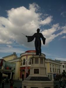 Un maestru al circului. Statuie de la Prater