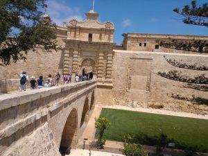 Poarta de intrare in Cetatea Mdina